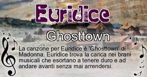Euridice - Canzone ideale per Euridice