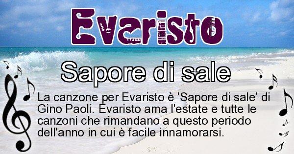 Evaristo - Canzone ideale per Evaristo