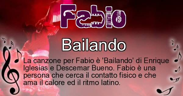 Fabio - Canzone ideale per Fabio