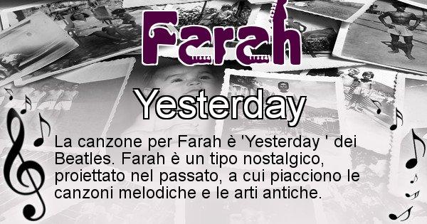 Farah - Canzone ideale per Farah