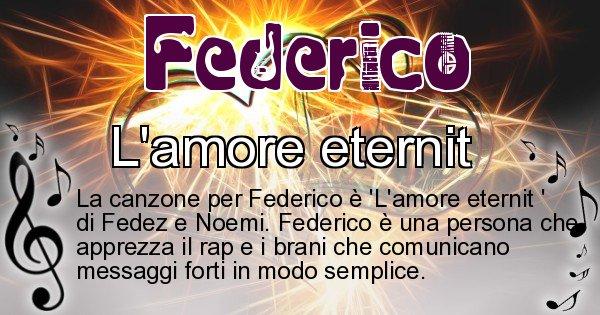 Federico - Canzone ideale per Federico