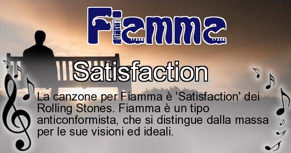Fiamma - Canzone ideale per Fiamma