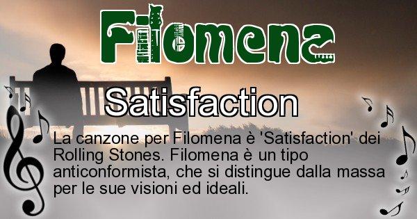 Filomena - Canzone ideale per Filomena