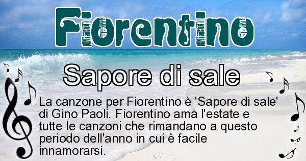 Fiorentino - Canzone ideale per Fiorentino