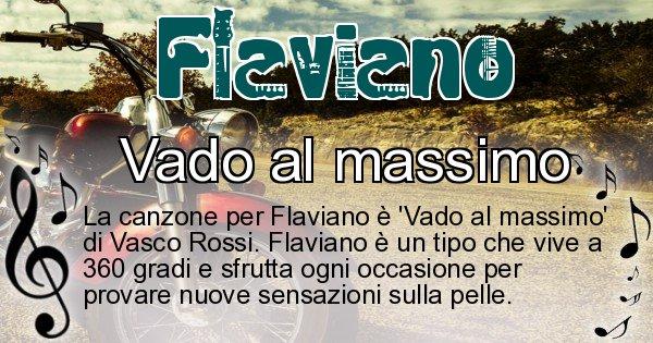 Flaviano - Canzone ideale per Flaviano
