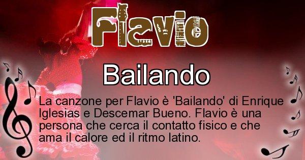 Flavio - Canzone ideale per Flavio