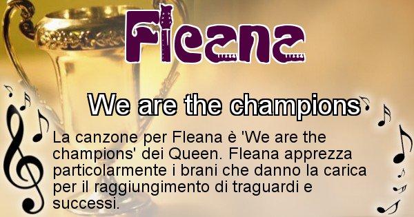 Fleana - Canzone ideale per Fleana