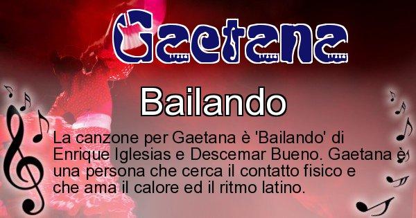 Gaetana - Canzone ideale per Gaetana
