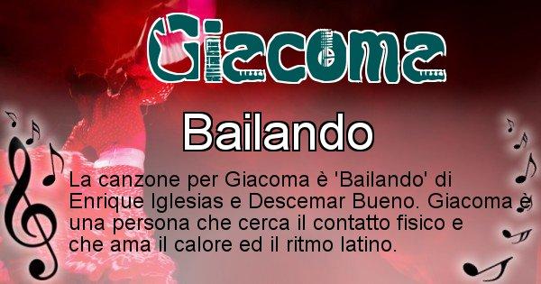 Giacoma - Canzone ideale per Giacoma