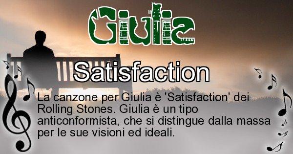 Giulia - Canzone ideale per Giulia