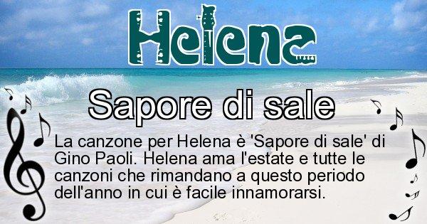 Helena - Canzone ideale per Helena