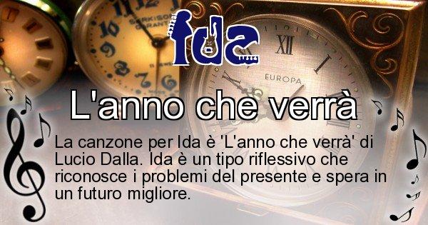 Ida - Canzone ideale per Ida