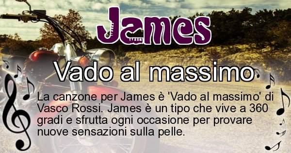 James - Canzone ideale per James