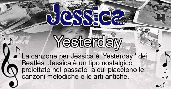 Jessica - Canzone ideale per Jessica