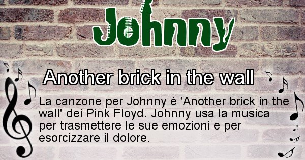 Johnny - Canzone ideale per Johnny