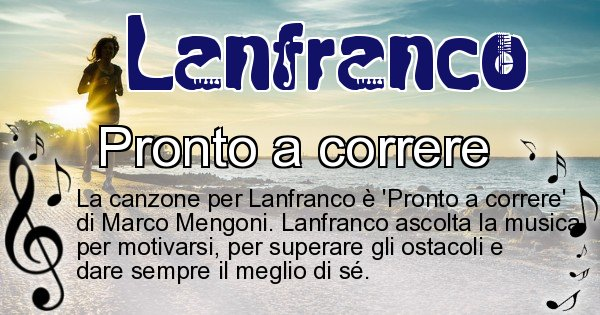 Lanfranco - Canzone ideale per Lanfranco