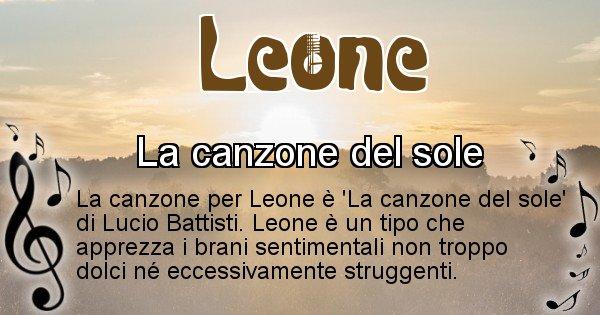 Leone - Canzone ideale per Leone