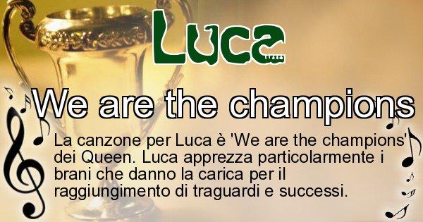 Luca - Canzone ideale per Luca