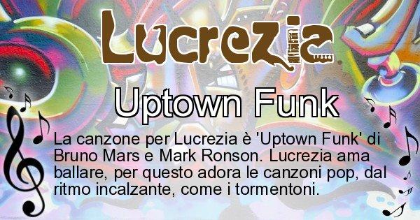 Lucrezia - Canzone ideale per Lucrezia