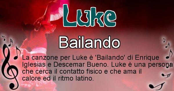 Luke - Canzone ideale per Luke