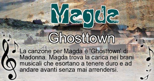 Magda - Canzone ideale per Magda