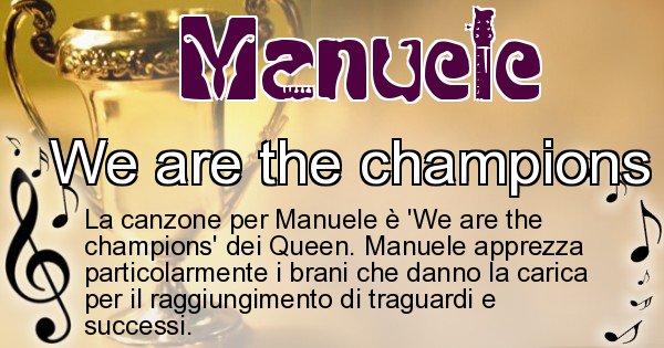 Manuele - Canzone ideale per Manuele