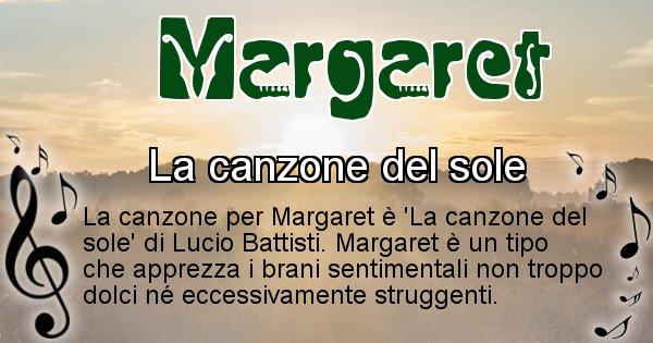 Margaret - Canzone ideale per Margaret