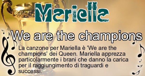 Mariella - Canzone ideale per Mariella