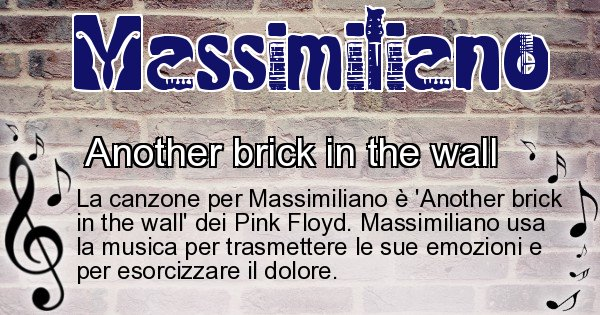 Massimiliano - Canzone ideale per Massimiliano
