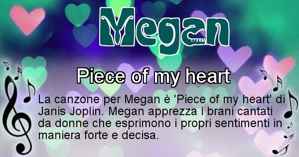 Megan - Canzone ideale per Megan