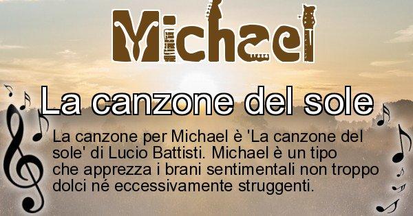 Michael - Canzone ideale per Michael