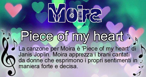 Moira - Canzone ideale per Moira