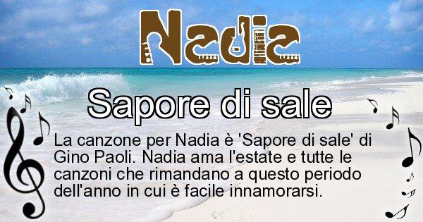 Nadia - Canzone ideale per Nadia