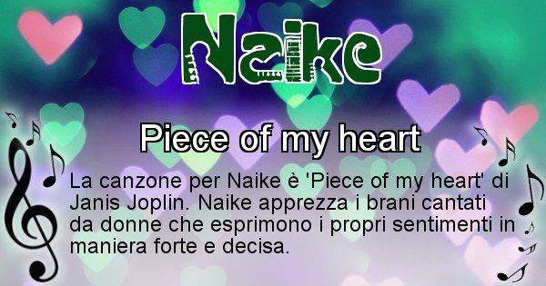 Naike - Canzone ideale per Naike