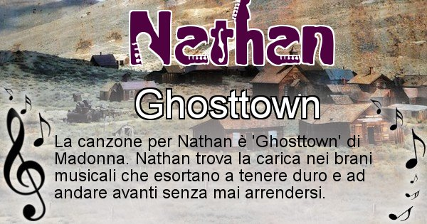 Nathan - Canzone ideale per Nathan