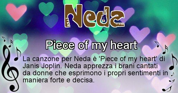 Neda - Canzone ideale per Neda