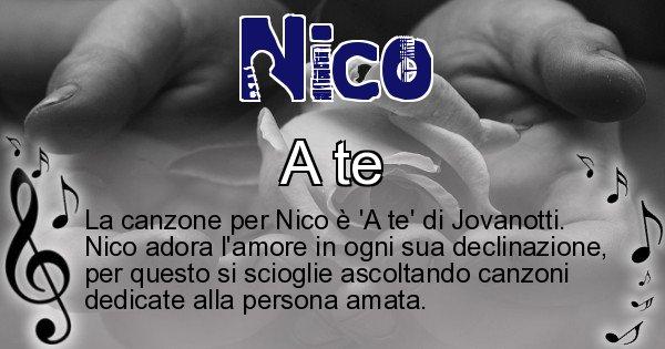 Nico - Canzone ideale per Nico