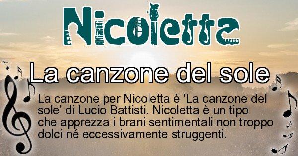 Nicoletta - Canzone ideale per Nicoletta