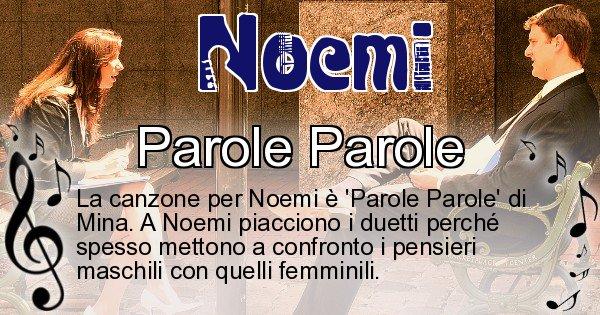 Noemi - Canzone ideale per Noemi