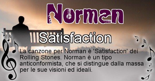 Norman - Canzone ideale per Norman