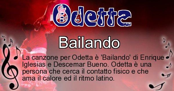 Odetta - Canzone ideale per Odetta