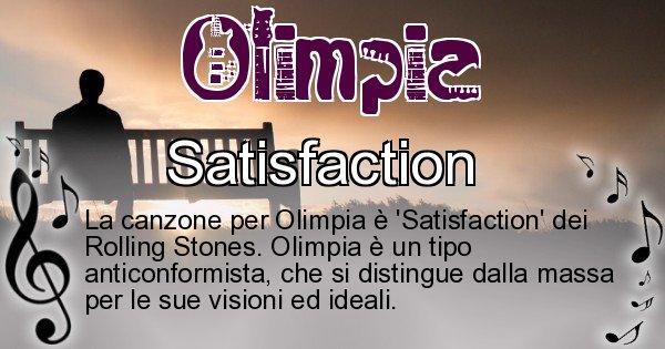 Olimpia - Canzone ideale per Olimpia