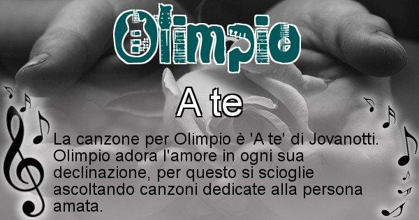Olimpio - Canzone ideale per Olimpio