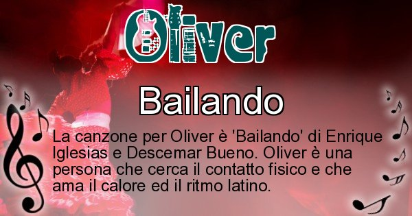 Oliver - Canzone ideale per Oliver
