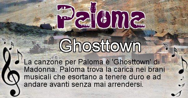 Paloma - Canzone ideale per Paloma