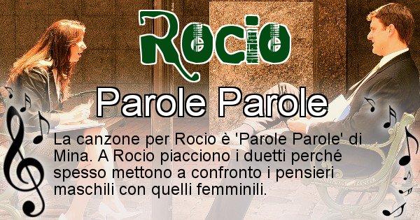 Rocio - Canzone ideale per Rocio