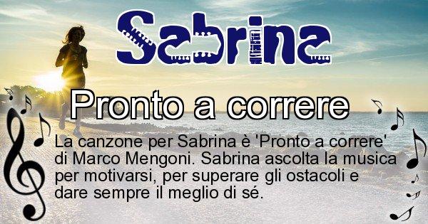 Sabrina - Canzone ideale per Sabrina