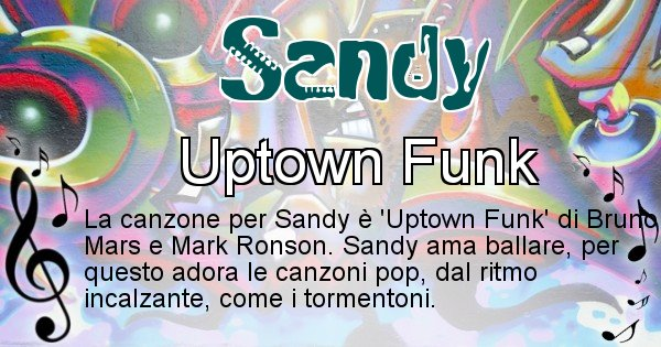Sandy - Canzone ideale per Sandy