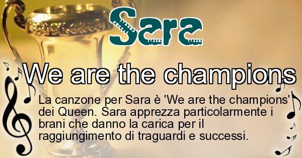 Sara - Canzone ideale per Sara