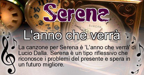 Serena - Canzone ideale per Serena
